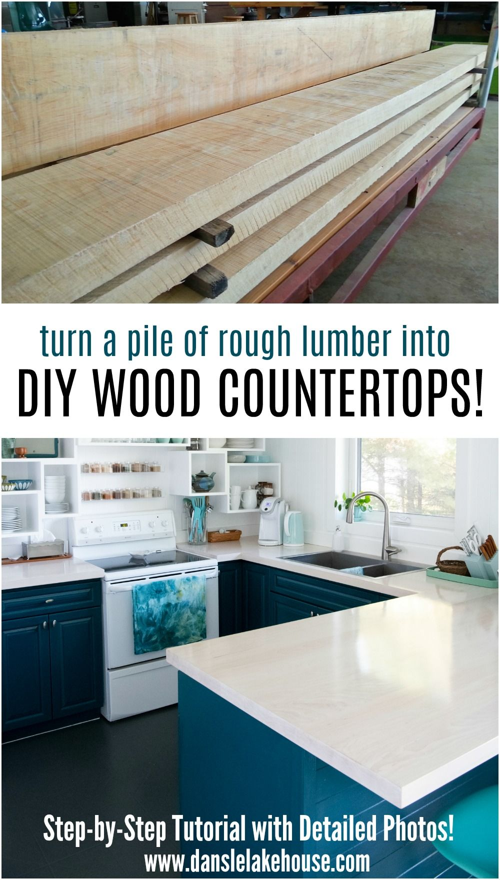 Solid Maple DIY Wood Countertops in 2020 (With images