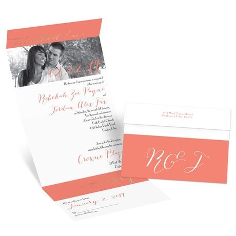 Simply Sophisticated Foil Seal and Send Invitation | Invitations by Dawn