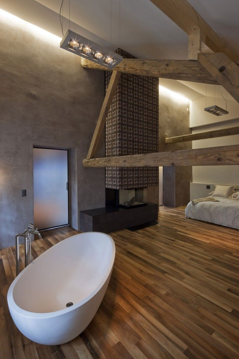 Wauw! Prachtige badkamer annex slaapkamer van arttesa interior design #badkamer #inspiratie