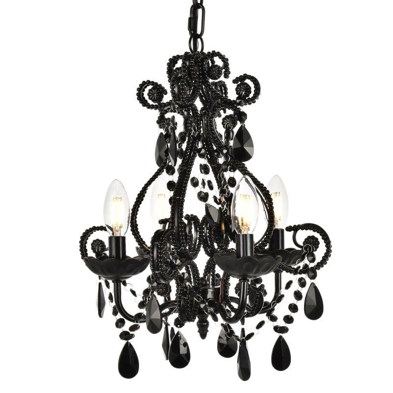 Elegant Lighting Ld5018d12 Black Chandelier Chandelier Lighting