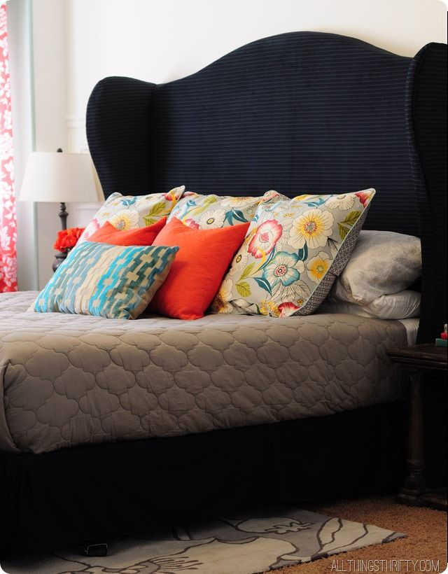 DIY Wingback Headboard Tutorial with FREE pattern | Dormitorio ...