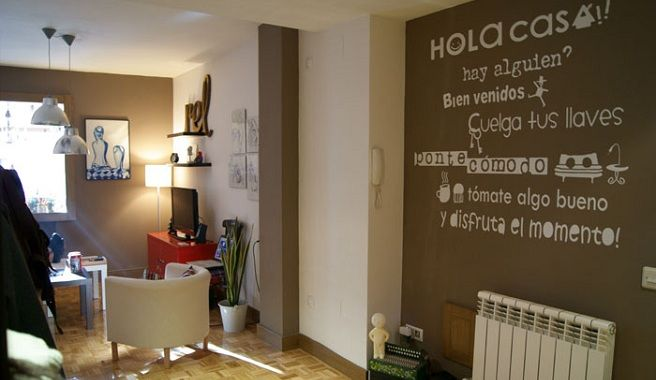 Frases para decorar tus paredes autoayuda emociones sugerencias decorando pinterest - Decoracion pintura salon ...