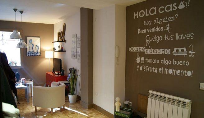 Frases para decorar tus paredes autoayuda emociones sugerencias decorando pinterest - Decorar paredes salon ...