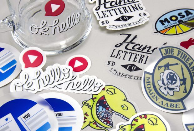 Stickermule custom clear vinyl stickers are perfectly cut to the shape and size of your