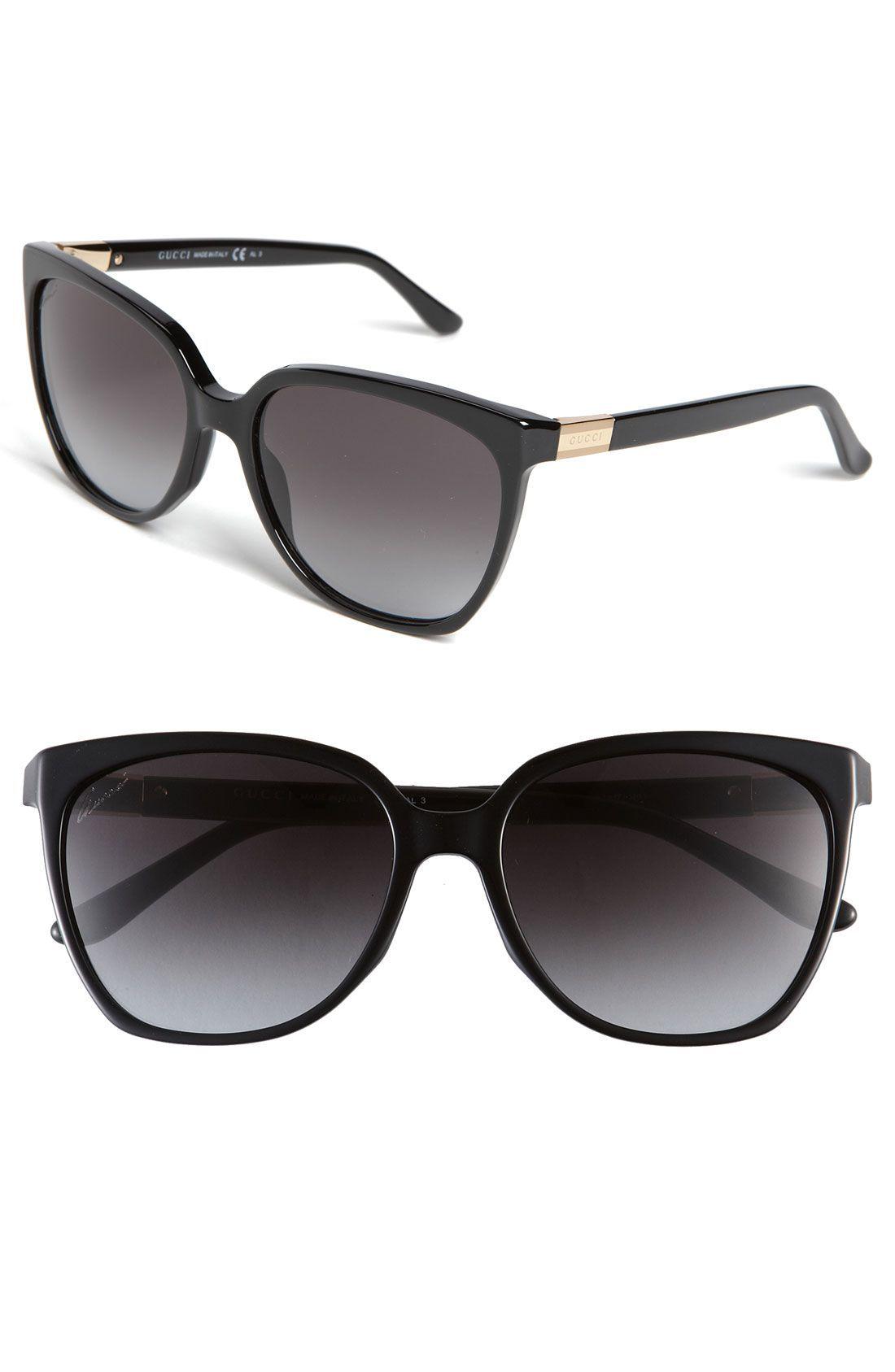 77c699b731b39 Gucci 57mm Oversized Sunglasses - black OR havana  )