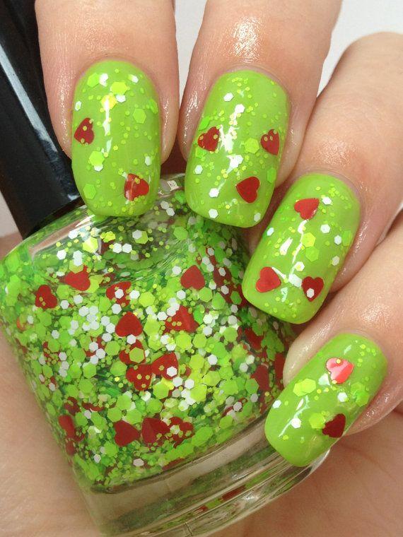 FINAL STOCK-Mr. Grinch-Holiday/Christmas Glitter Indie Nail Polish ...