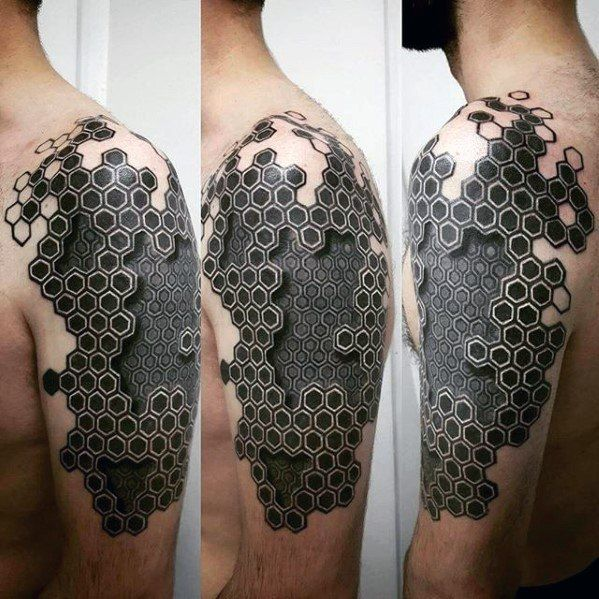 50 Geometric Arm Tattoo Designs For Men - Bicep Ink Ideas