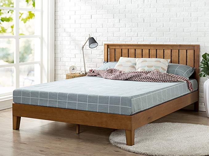 Amazon Com Zinus Alexis 12 Inch Deluxe Wood Platform Bed With
