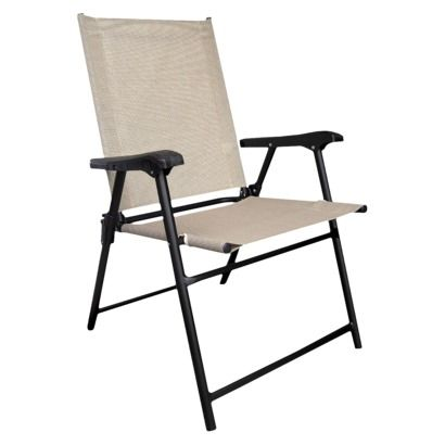 patio folding chair re 17in room essentials tan | for the home