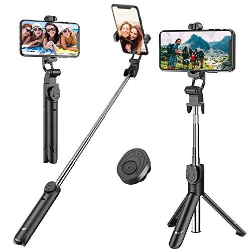 Selfie Stick Extendable Selfie Stick Tripod with Detachable Wireless Remote and Tripod St