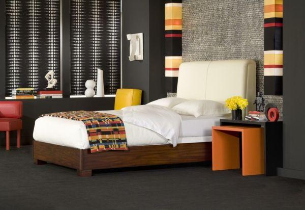 schlafzimmer design schwarze wände wand farben Pinterest - farbideen schlafzimmer wande gestalten