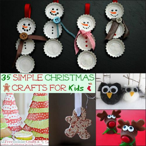 35 Simple Christmas Crafts for Kids Simple christmas crafts