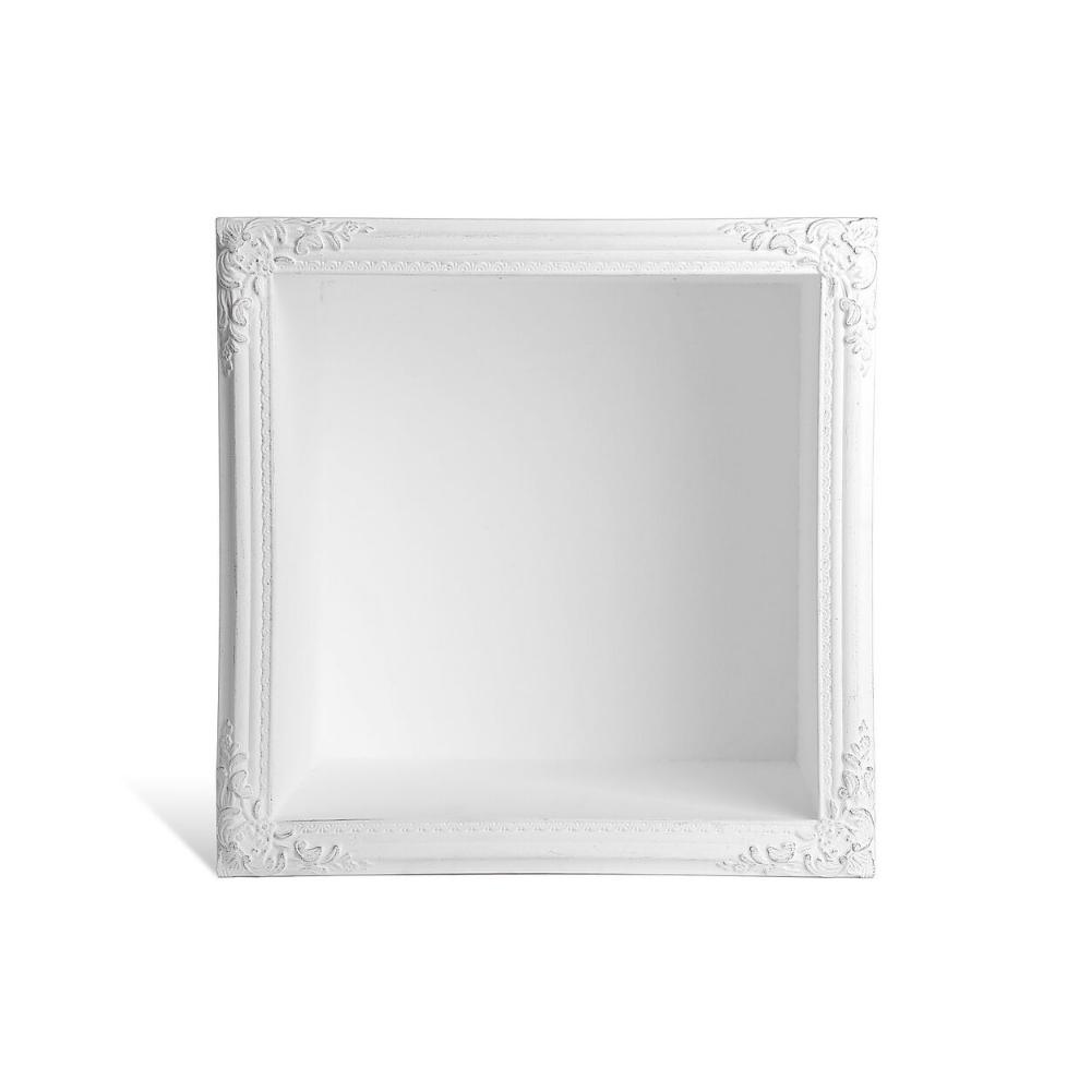 Wandregal Frame Mit Zierprofil 44x31x44cm Weiss De Mit Bildern