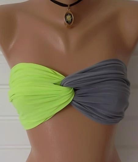 5a0acb7dfbf Ropa De Playa, Trajes De Baño, Tops Bikini Bandeau, Conjunto De Bikini,