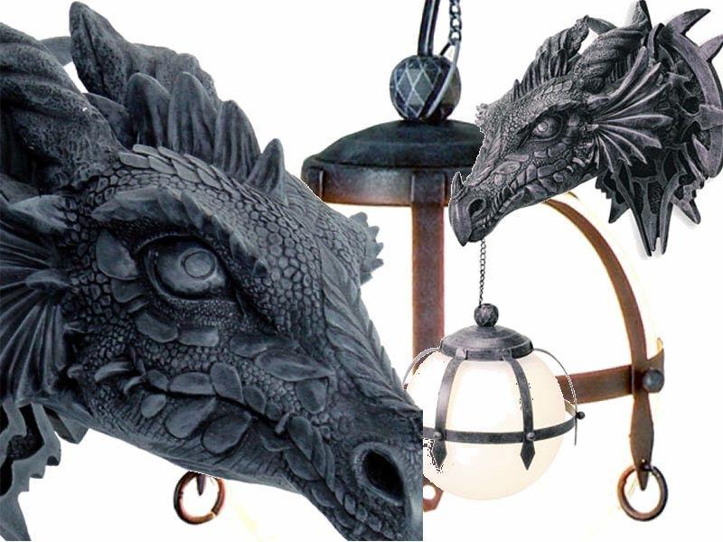 Lampe Tte Dragon Applique Murale Gothique Dragons Mobiler Fantasy