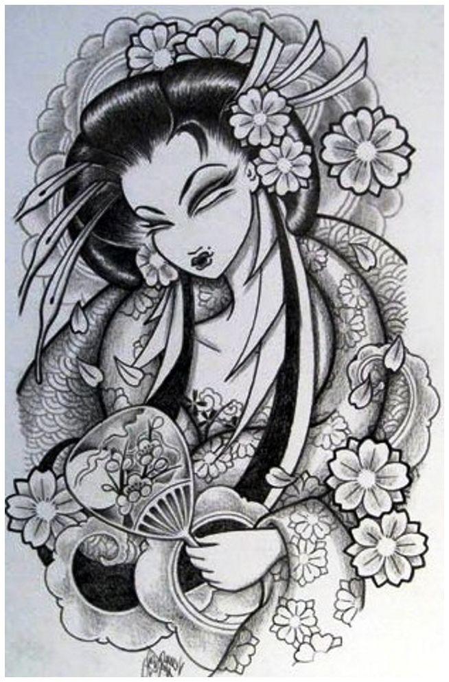 Japanese Geisha Tattoo Designs, ] ~ Popular Tattoo Design   Asian ...