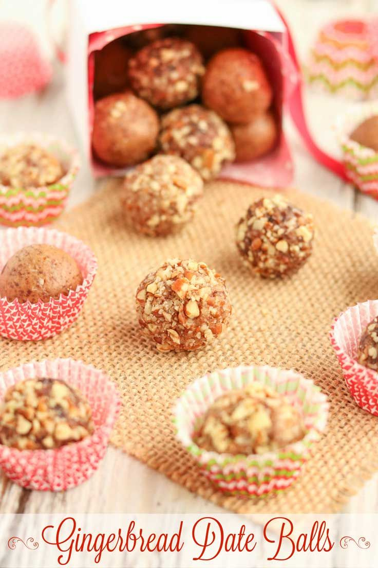 Easy no-bake holiday treats! These delicious Gingerbread Date Balls ...