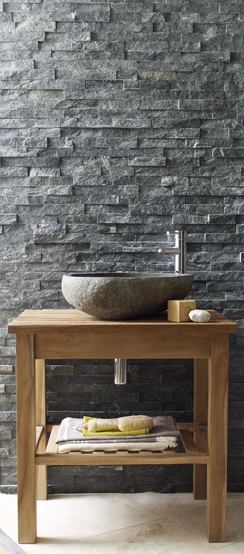 Aspect 6 x 24 inch autumn sandstone peel and stick stone backsplash - Black Quartzite Maxi Splitface Tiles Split Face Wall Tiles Mandarin Stone Tiles Flooring