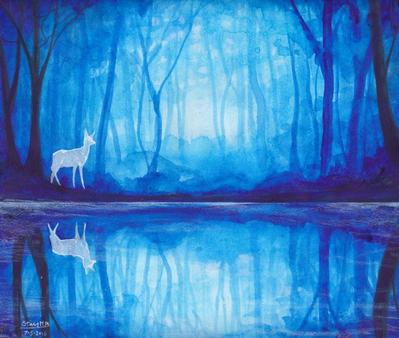 The Forest Of Dean By Kelii On Deviantart Painting Art Projects Monochromatic Paintings Forest Painting