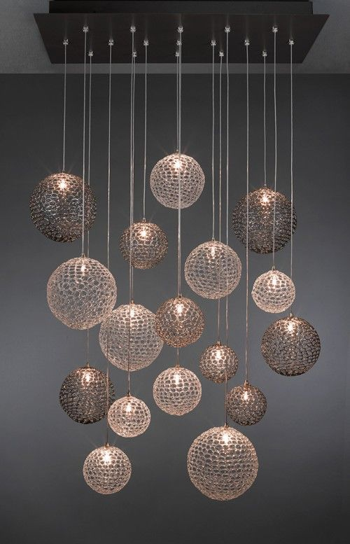 Shakuff exotic glass lighting and decor suspension lighting is the perfect contemporary lighting option