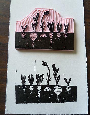 gem segarten stamps pinterest drucken stempel und linoldruck. Black Bedroom Furniture Sets. Home Design Ideas