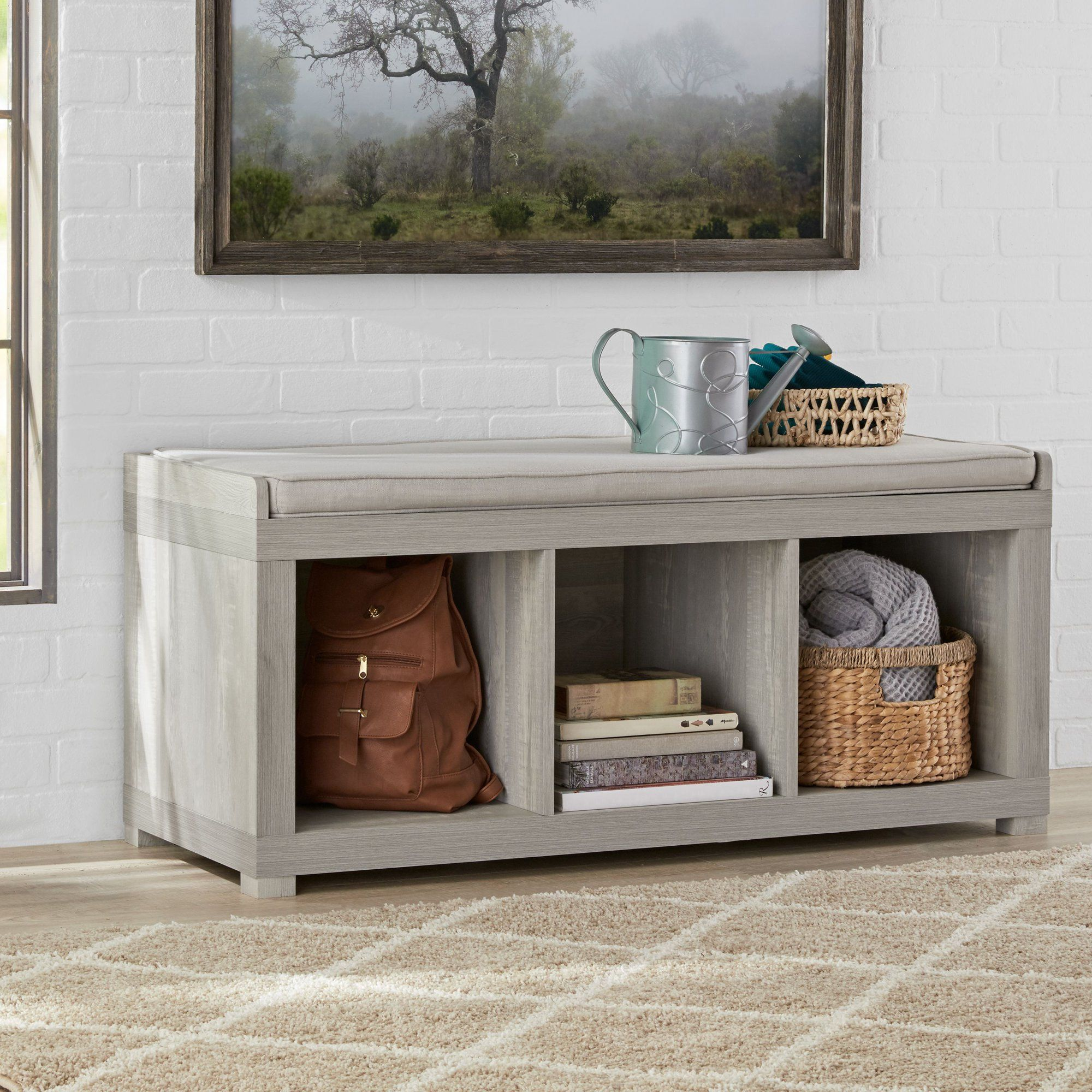 8ad2ce8e7f9bbc71eed76f296ce8c368 - Better Homes And Gardens 3 Cube Organizer Bench With Cushion