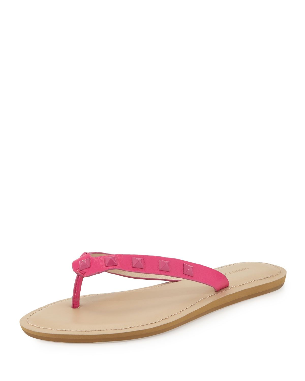 9501cec4bd1 Fiona Studded Flat Thong Sandal