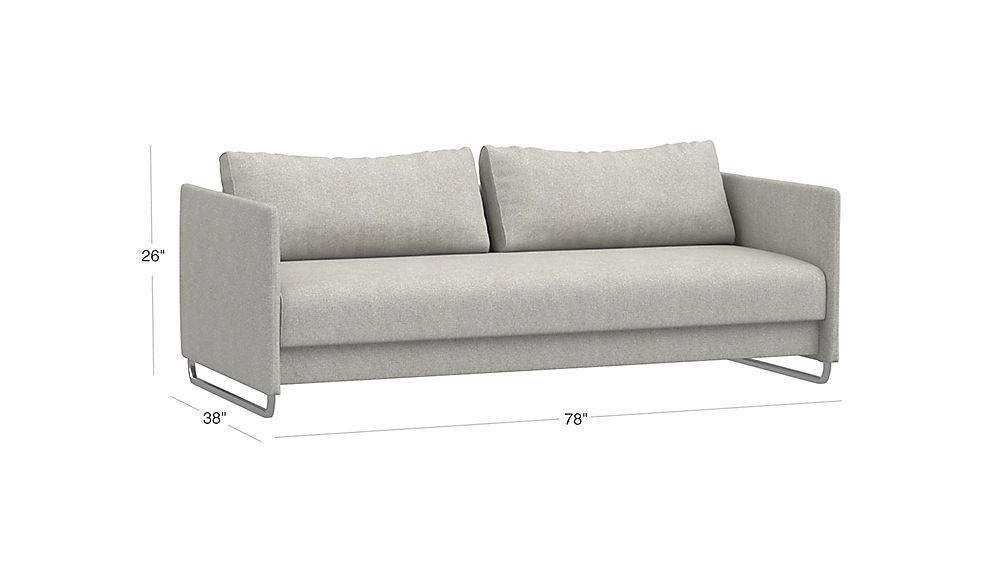 Wondrous Tandom Microgrid Grey Sleeper Sofa House Sleeper Sofa Gmtry Best Dining Table And Chair Ideas Images Gmtryco