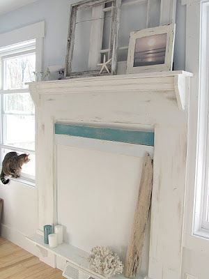 Ugly House Lovely Home: Faux Fireplace Mantles