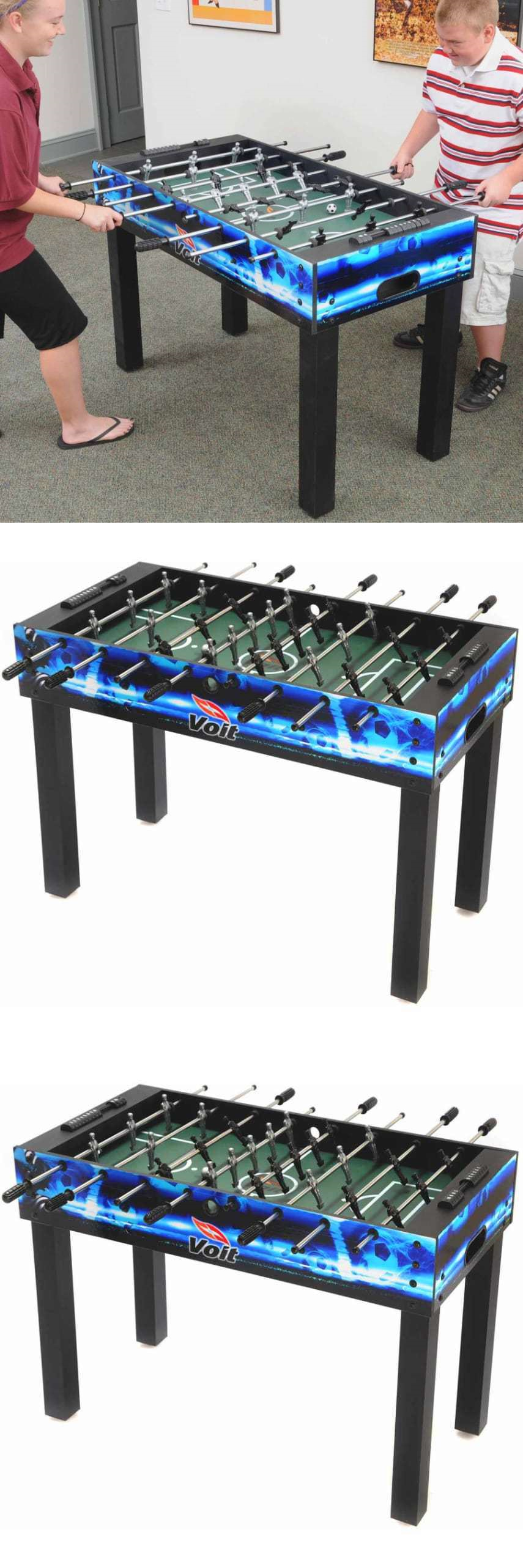 Superb Foosball 36276: Voit Game Table 48 Foosball Table Fast Paced Foosball Game  Room Activity