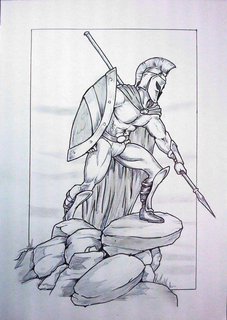 картинки воинов для рисования