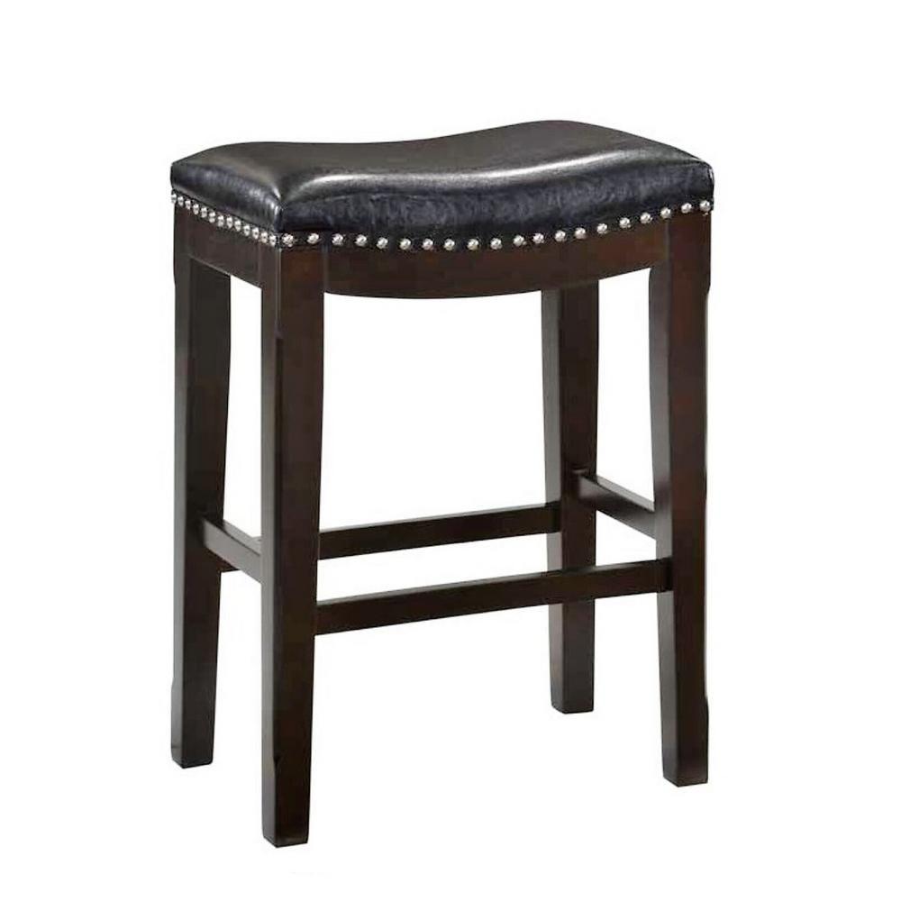 Belle Isle Furniture Savannah 24 In Espresso Black Vinyl Saddle