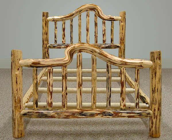 Snow Bent Log Bed Frame By Misty Mountain Furniture