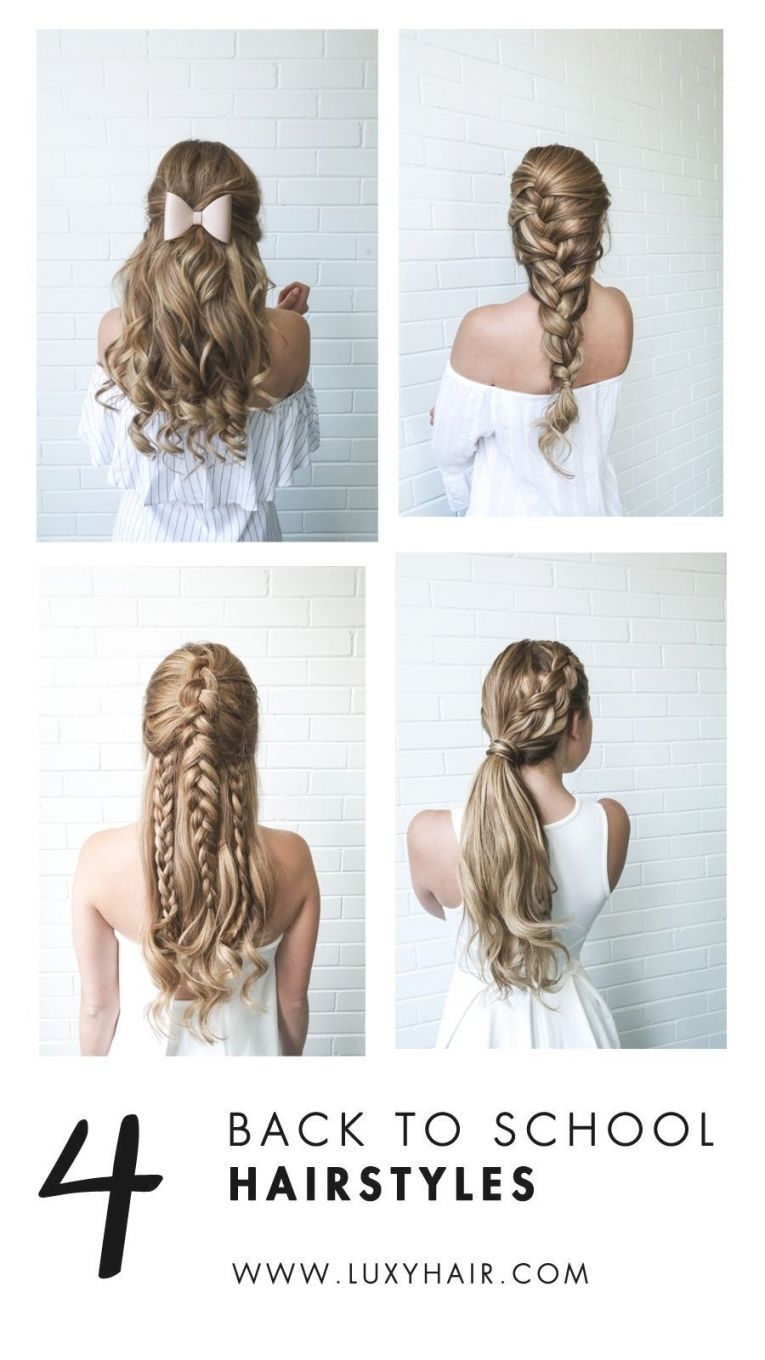 56 Easy And Elegant Braid Hairstyles For School 2019 Trends Easy Hairstyles Pretty Hairstyles Easy Hair Styles Braided Hairstyles Easy