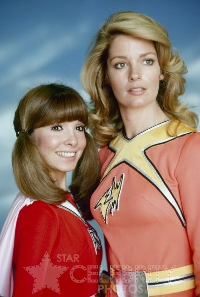 Electra Woman Deidre Hall And Dyna Girl Judy Strangis