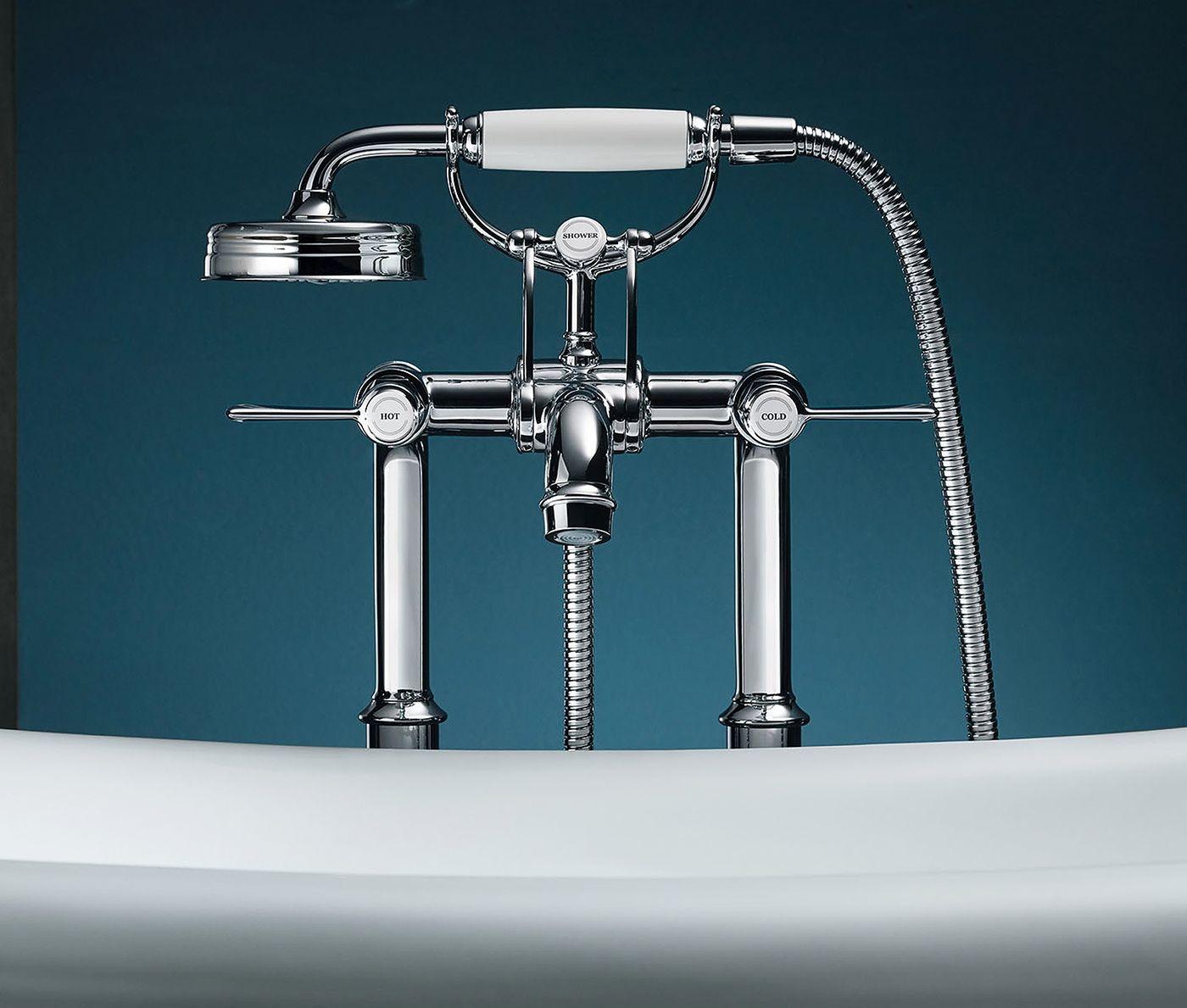 AXOR Montreux 16547000 Напольный смеситель для ванны (хром)