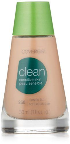 CoverGirl Clean Sensitive Skin Liquid Makeup Classic Tan W 260 10Ounce Bottles Pack of 2 ** Read more at the best makeup products link.