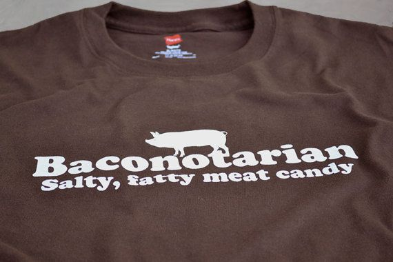 220b8fbc86 Baconotarian funny bacon lover t shirt size Large or by geekthings, $16.99