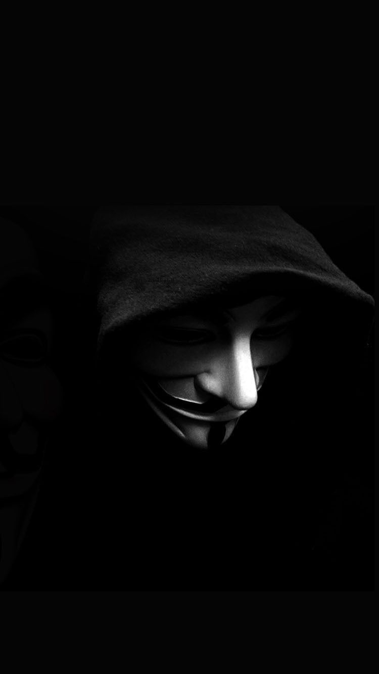 V For Vendetta Mask Wallpaper Mobile Wallpape...