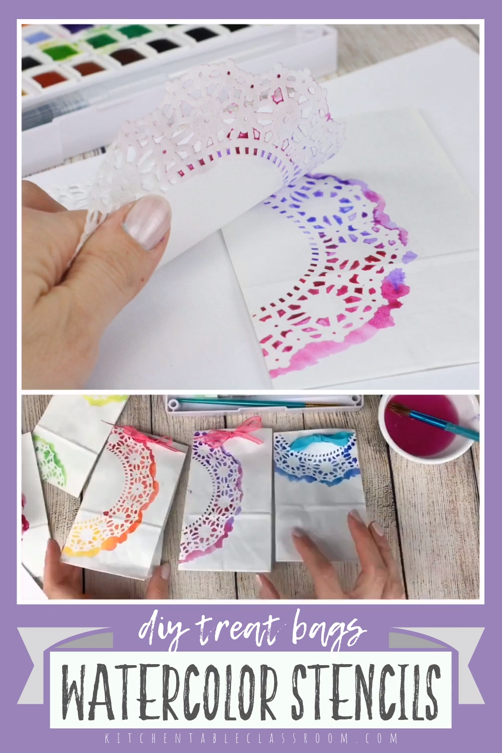 , Doily Stenciled Treat Bags, My Travels Blog 2020, My Travels Blog 2020