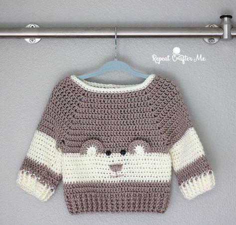 Photo of Häkeln Sie Charakter Bär Pullover Garnspirationen Babys Tag – Diy Deko Garten