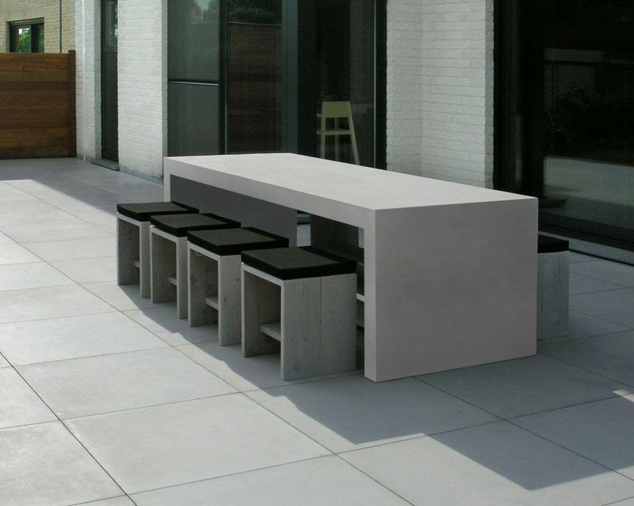 Salon de jardin en beton cire bton cir terrasse piscine sol extrieur bton dcoratif extrieur - Salon beton cire ...