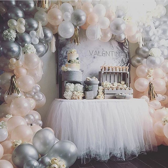 Peach Gray Balloon Archbackdrop The Big Day Baby Shower