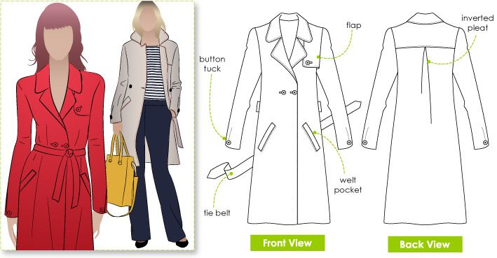 Trench Coat Sewing Pattern 20