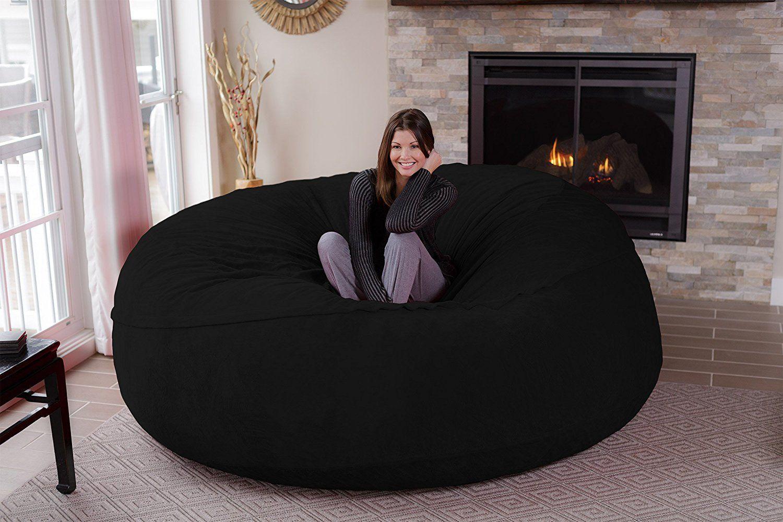Chill Sack Bean Bag Chair Giant 8 Memory Foam Furniture Bean Bag Petagadget Bean Bag Chair Big Sofas Large Bean Bag Chairs