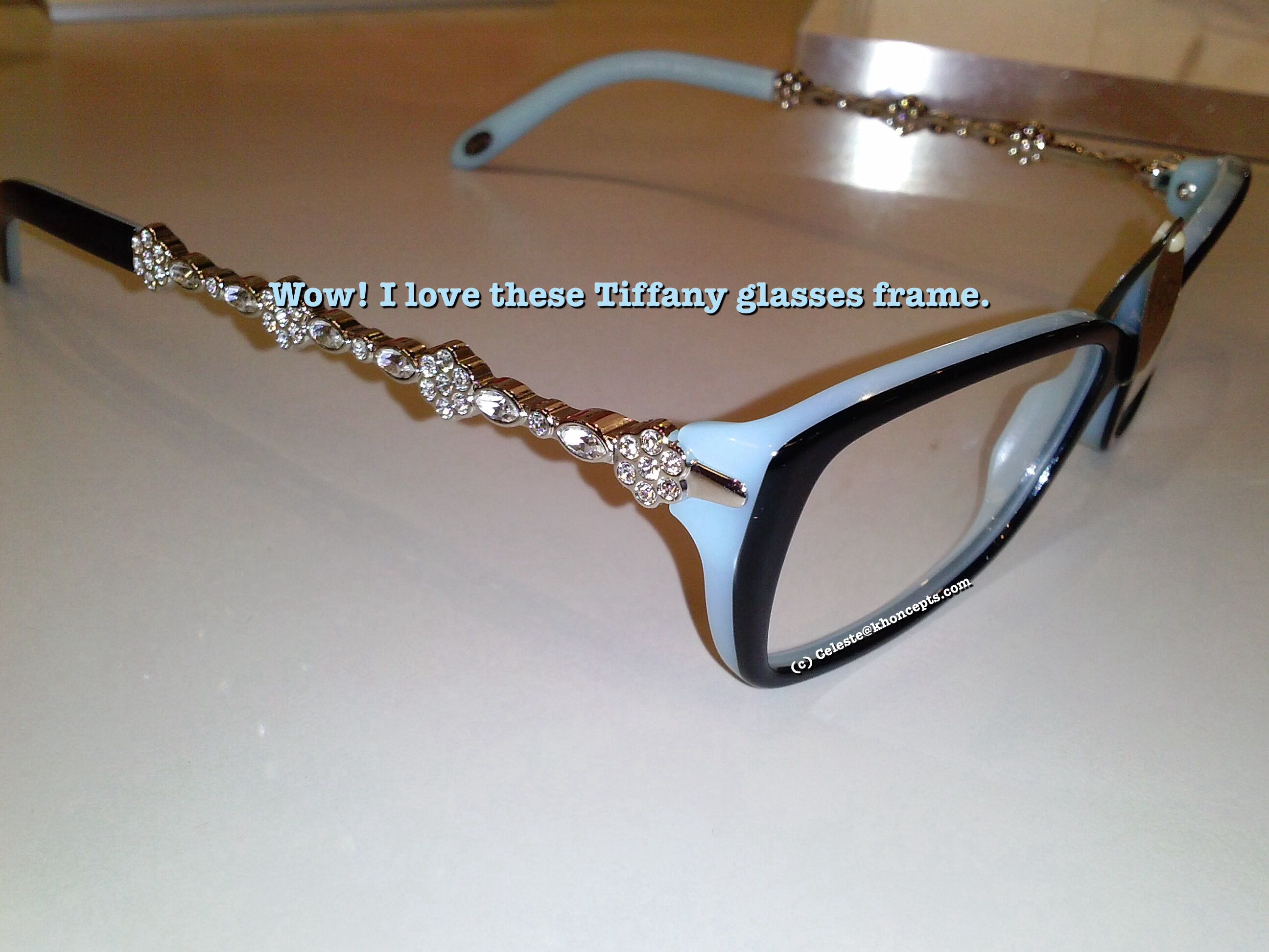 Love these bling #Tiffany glasses frames spotted at my eye ...