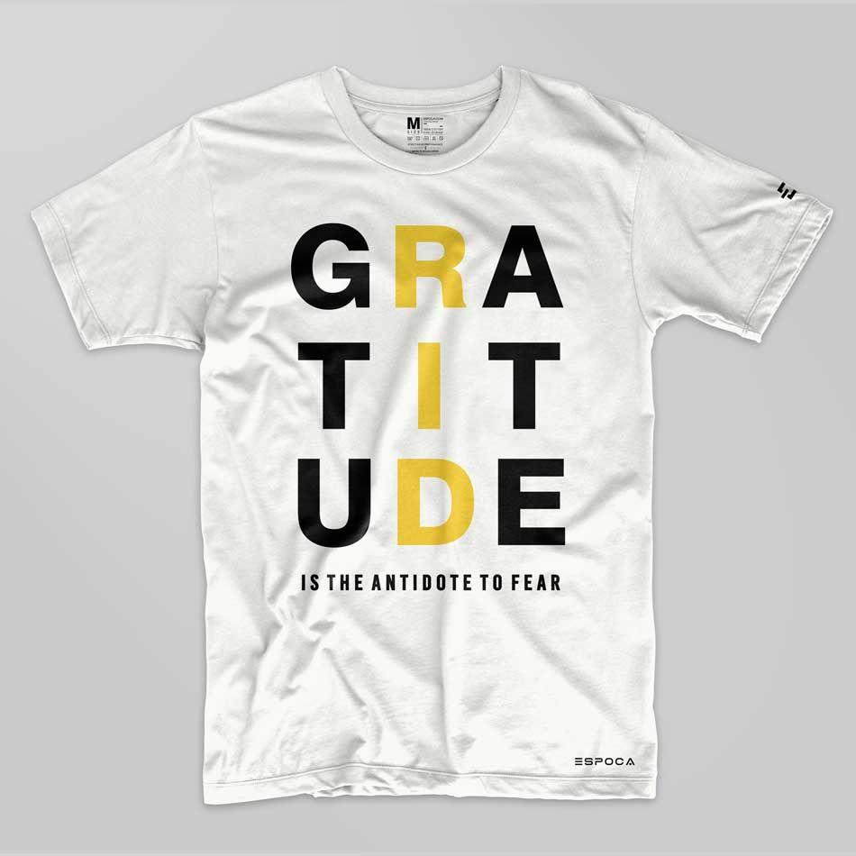 man t shirt gratitude is antidote to fear t shirt mens tees