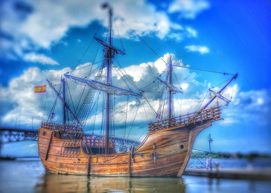 Pin By Ttc Media On The Santa Maria Christopher Columbus Flag Ship Sailing Ships Sailing Columbus