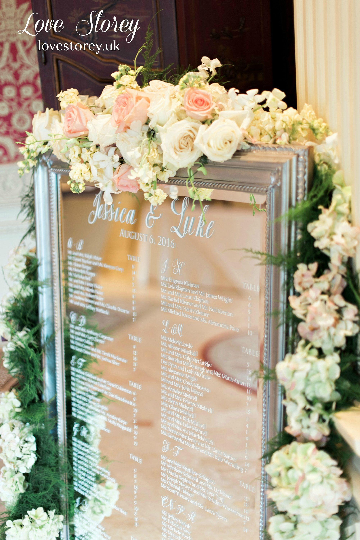 Alphabetical Order Mirror Wedding Table Plan Vinyl Lettering Stickers Diy Seating Chart Full Instructions Alphabetical Order Names Seating Chart Wedding Wedding Table Plan Wedding Mirror