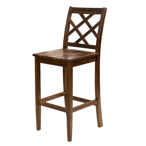 Naples Acacia 26 Inch Wood Counter Stool Set Of 2 By Christopher Knight Home